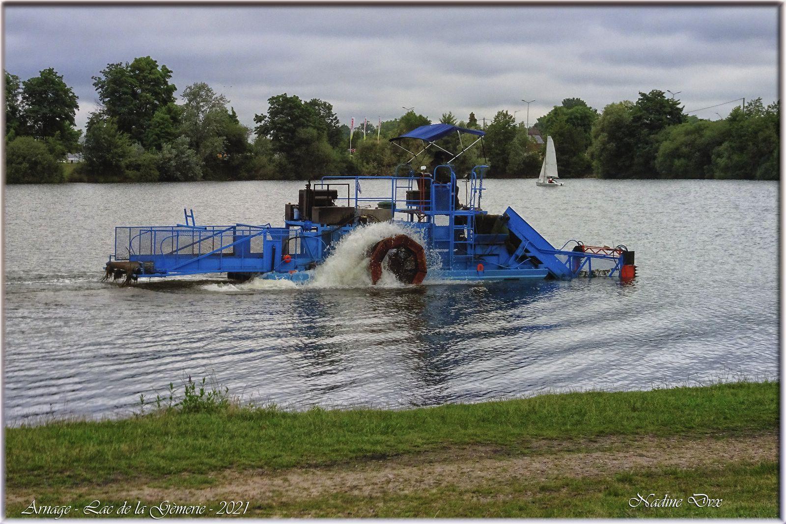 Faucardeuse - Lac de la Gèmerie - 72