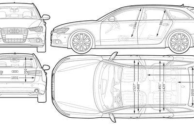 Blueprint of Audi A6 Avant 2012