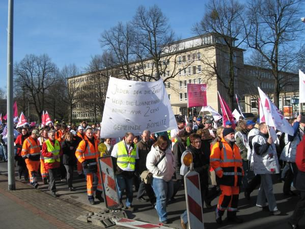 Verdi Warnstreik-Demo am 4.3.2008 in Hannover