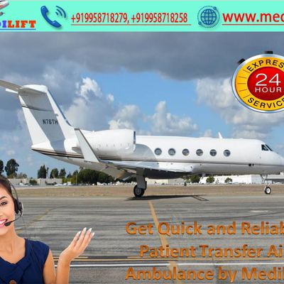 Stumpy Outlay Obtainable For Every Patient by Medilift Air Ambulance in Kolkata