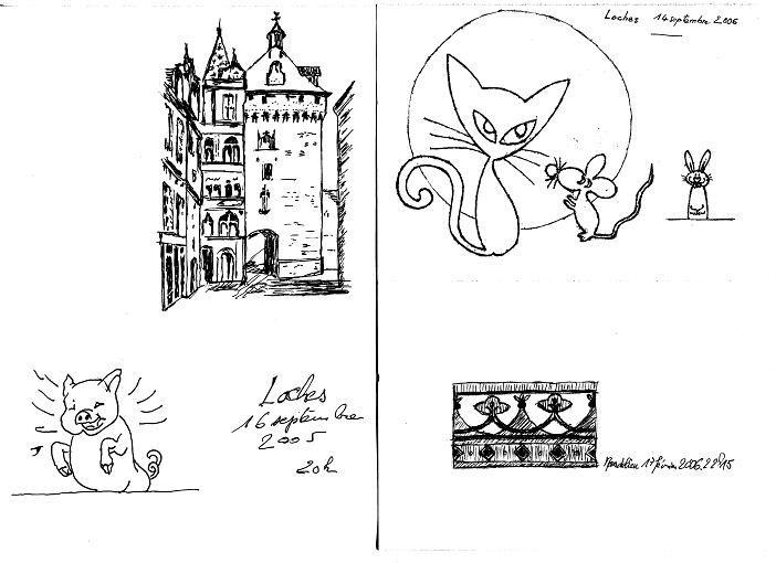 dessins au stylo