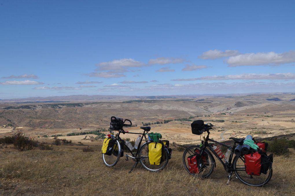 Voyage en Espagne à bicyclette, septembre,octobre 2012