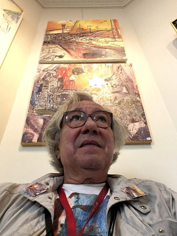 Emmanuel CRIVAT-IONESCO, Galerie Bansard, Paris. Le 16 mai 2017 au vernissage de l'exposition annuelle du Syndicat National des Artistes Professionnels.