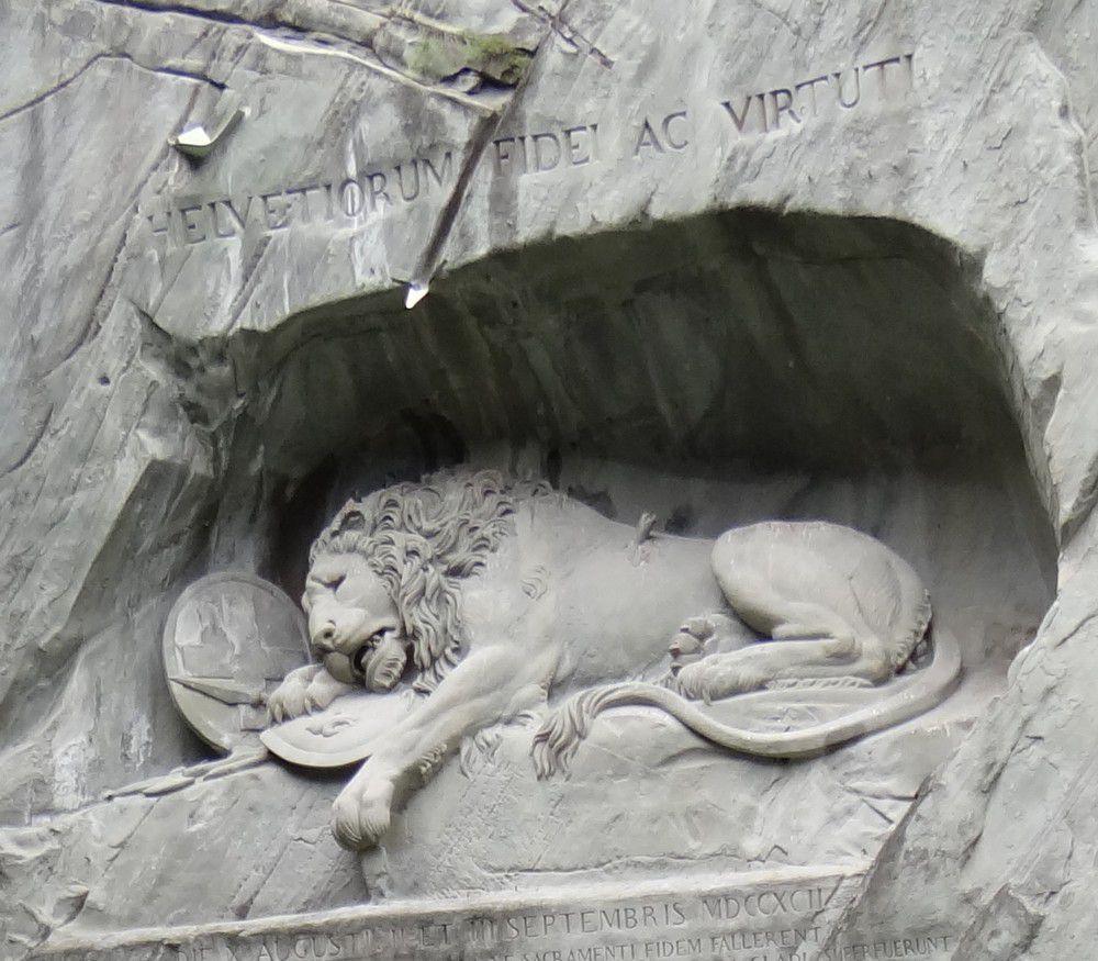 Le monument du Lion de Lucerne...