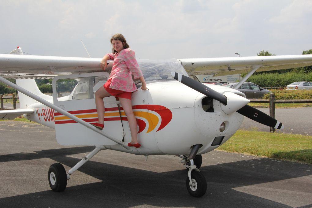 Le bonheur d'un nouveau pilote. Joy of a new pilot.