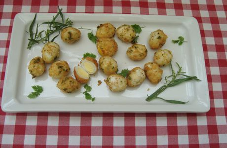 Petits Oeufs frits aux herbes