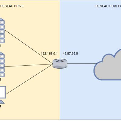 Mise en place d'un Nat 'PAT' (Port Address Translation) sous (Linux)