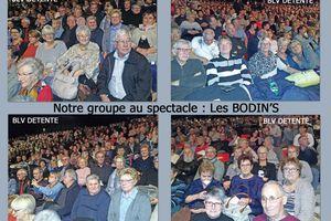 """Jeudi 24 Novembre 2016 : Sortie pour assister au spectacle """"Les BODIN'S"""""""