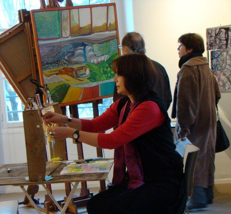 Visite de l'exposition H1NArt, manifeste d'Est² réseau des Arts Visuels du grand Est Parisien, novembre-décembre 2009