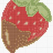 hancock's house of happy: Delicious Chocolate Strawberry! A Recipe and a Free Cross Stitch Chart