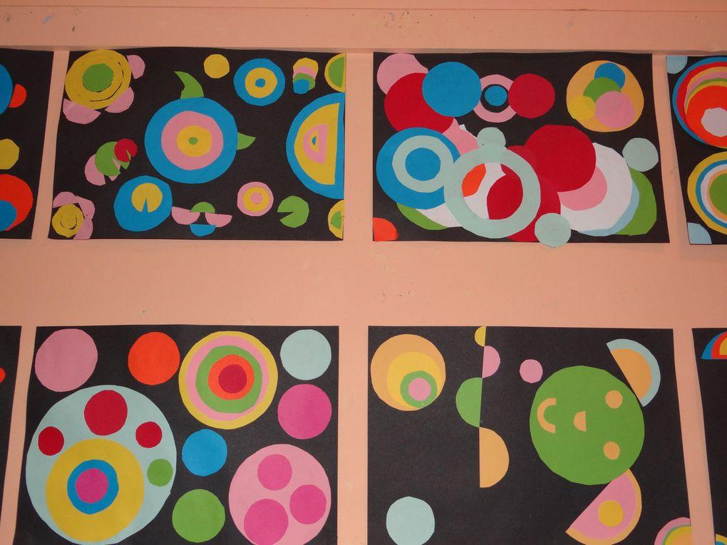 Les CE2 s'inspirent de Robert Delaunay...