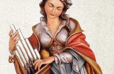Sainte Cécile, patronne des musiciens, † 230