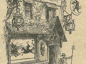 Enseigne d'Adolphe Willette (@Stéphanie/Paris on Thème/Musée Carnavalet) ; Affiche d'Albert Robida (1885)