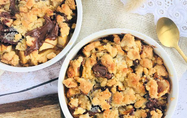 Crumble aux pommes & pâte à tartiner