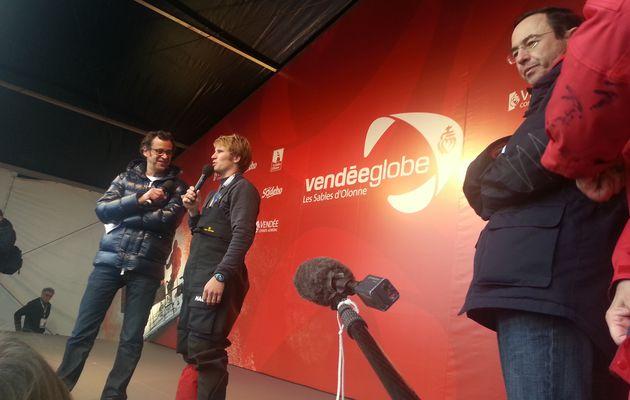 François Gabart remporte le Vendée Globe, Armel Le Cléac'h deuxième