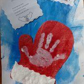 Une peinture d'illustration sur le thème de la moufle, avec les enfants d'age préscolaire - Le blog de fannyassmat, le quotidien d'une assistante maternelle en mille et une anecdotes
