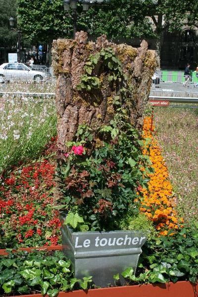 """Photos de l'exposition """"Jardins demain"""" à Paris du 25 mai au 1er juillet 2007 : le parvis de l'Hôtel de Ville a accueilli un jardin éphémère de 2600m² pour présenter l'évolution du concept de jardin en milieu urbain, complété par une exposition et une balade virtuelle dans l'Hôtel de Ville."""