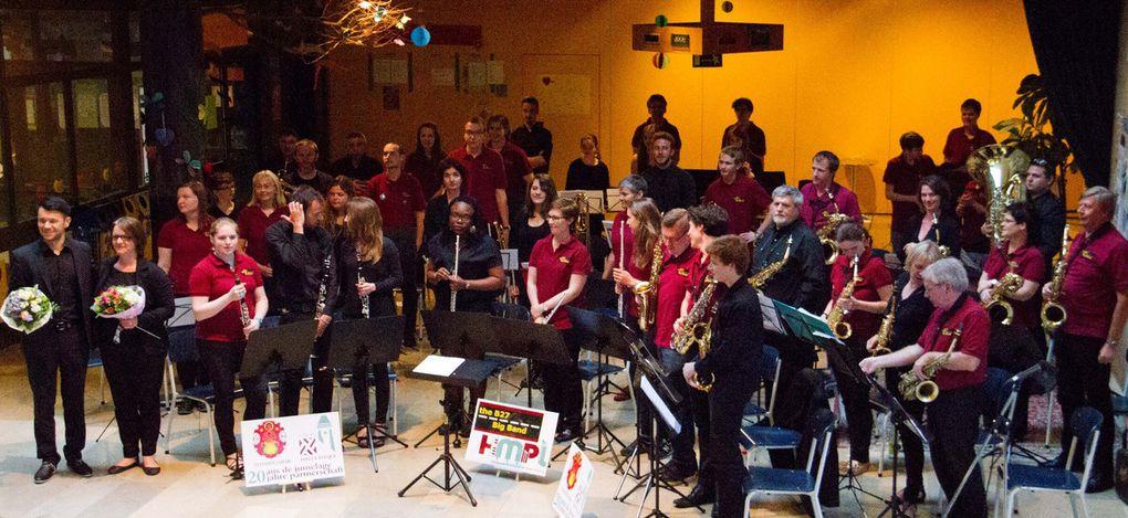 20jähriges Partnerschaftsjubiläum der Gemeinde  Veitshöchheim mit dem französischen Pays de Pont-l´Evêque - 3. Akt: Phänomenales Konzert B27 Bigband und Orchester Muncipale de Pont-l'Évêque