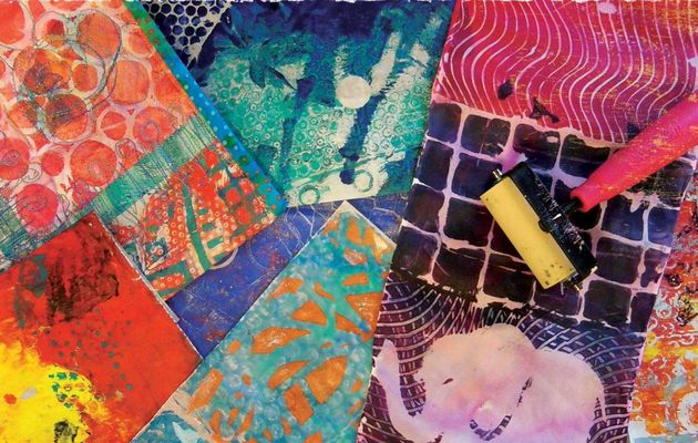 Book - Gelli Printing - Printing Without a Press on Paper and Fabric