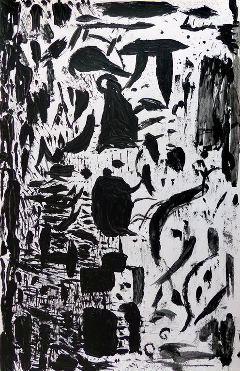 Catherine Maisse - Acryliques sur papier 32,5 x 50 cm