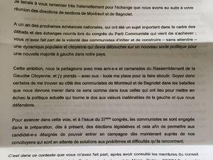 Legislatives Montreuil bagnolet. 1 les communistes: quel rouge au front?
