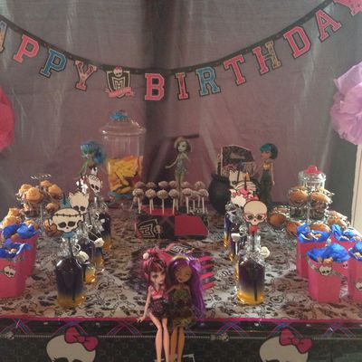 Sweet table Monster high