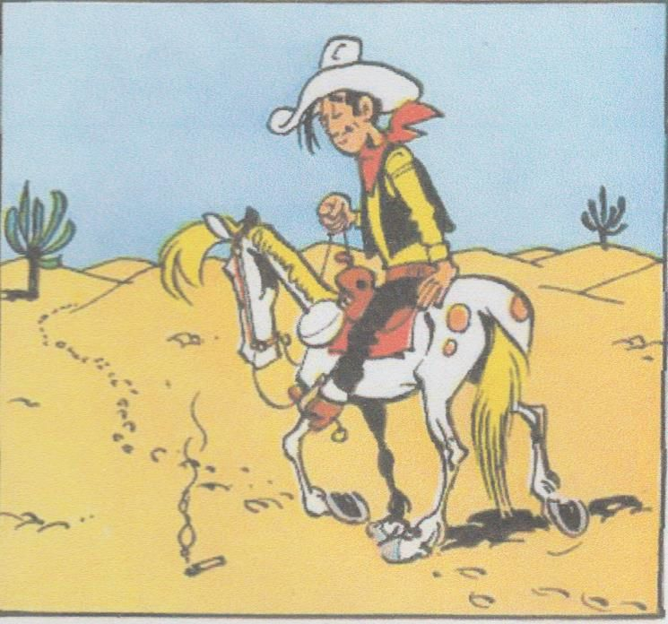 1/Arizonz 1880 (1947)  2/ La mine d'or de Dick Digger (1947)   43 Grand rodéo (1948)  4/ Despérado City (1948)  5/ La ruée vers l'or de Buddalo Creek (1949)  6/ Lucky Luke contre Cogarette César (1949)  7/ Le retour de Joe Gachette (1950)  8/ Jours d de round up (1950)  9/ Le grand Combat (1950)   10/  Nettoyage à Red-City (1951) 11/ Hors-la-loi (1951) 12/ Tumulte à Tumbleweet (1952)   13/ L'élixir du du Docteur Oxley (1953)  14/ Chasse à l'homme (1953)  15/ Phil Defer le Facheux