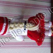 tuto gratuit poupée : bonnet pour Noël - Chez Laramicelle