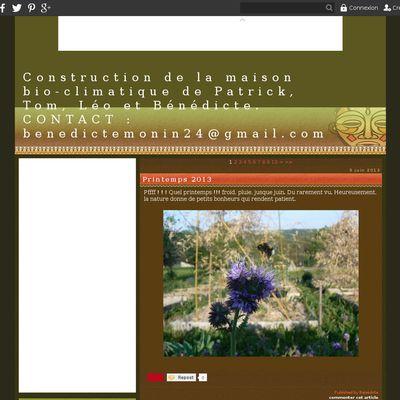 Construction de la maison bio-climatique de Patrick, Tom, Léo et Bénédicte. CONTACT : benedictemonin24@gmail.com