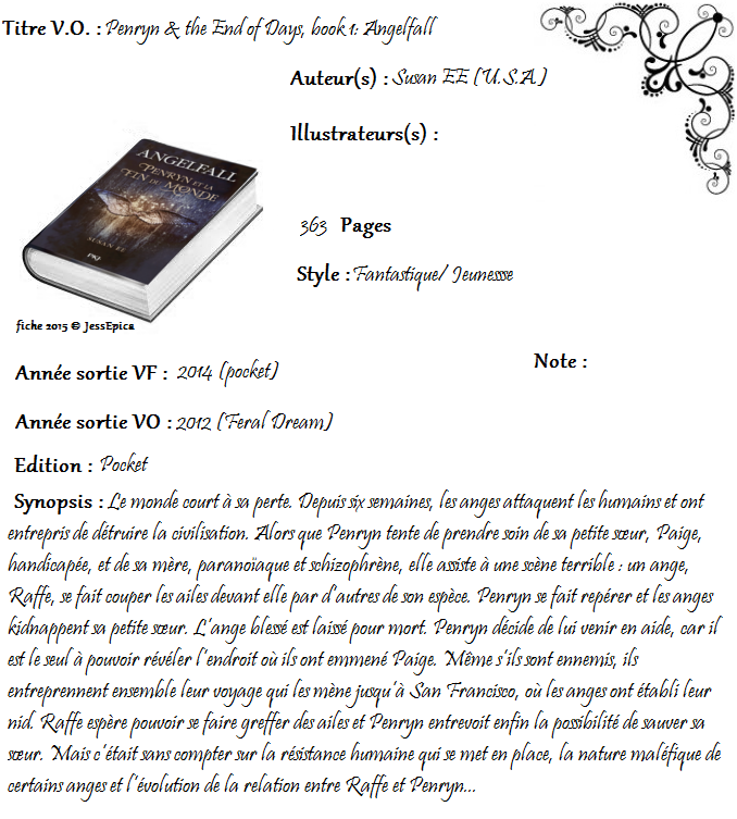 Angelfall, tome 1 : Penryn et la fin du monde de Susan Ee