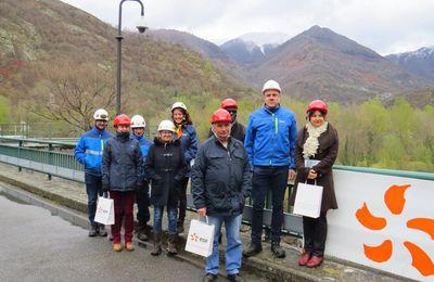 Comminges : visite du barrage du Plan d'Arem à Fos