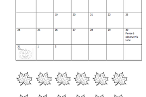 Calendrier vacances automne chez NatouD