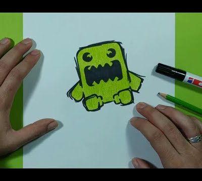 Como dibujar un monstruo paso a paso 22