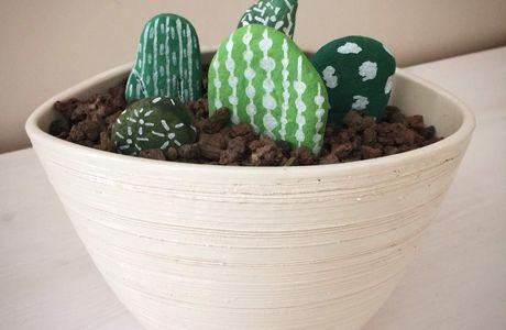 DIY. Les jolis cactus cailloux