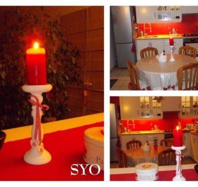 Bougie Rouge Anniversaire Porte-Bonheur et Cartes Vœux