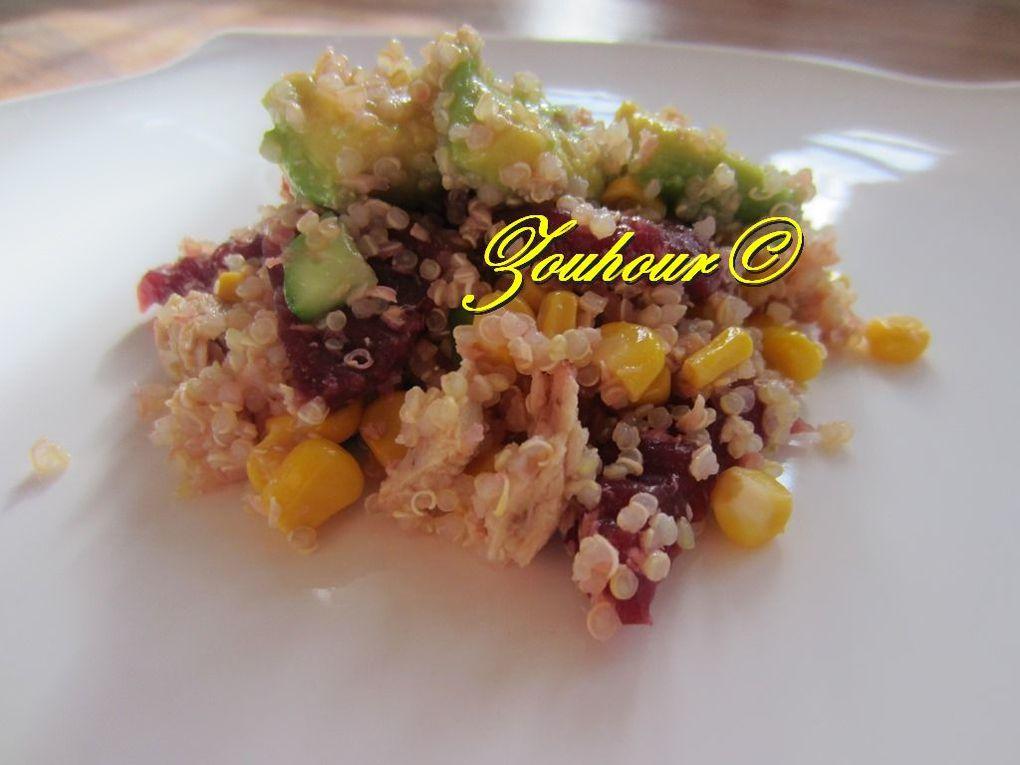 Quinoa salade avec thon et avocat