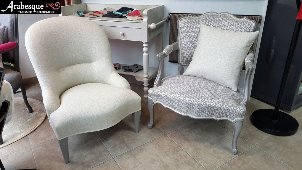 refection de fauteuils arabesque tapissier thiers 63