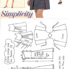 Un patron de robe Simplicity du 36 au 56.