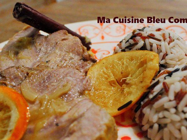 Rôti de Veau à l'Orange, Cannelle et Gingembre