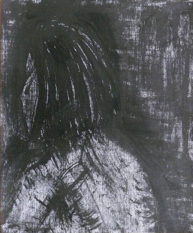 Encre noire sur papier lisse, 30 cm x 40 cm, à partir de modèles vivants