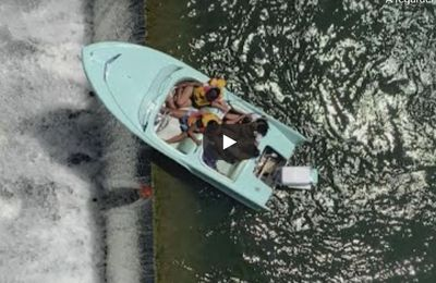 VIDEO - rescue in extremis of a speedboat drawn towards a waterfall