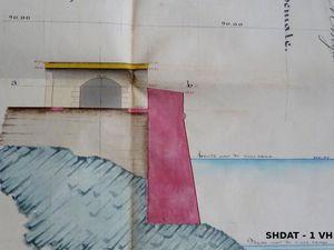 Projets de casemates en 1811 et en 1841 (© Service historique de la Défense)