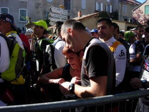 Marathon des causses 2008 ... Thierry Kinder trail ... Julie