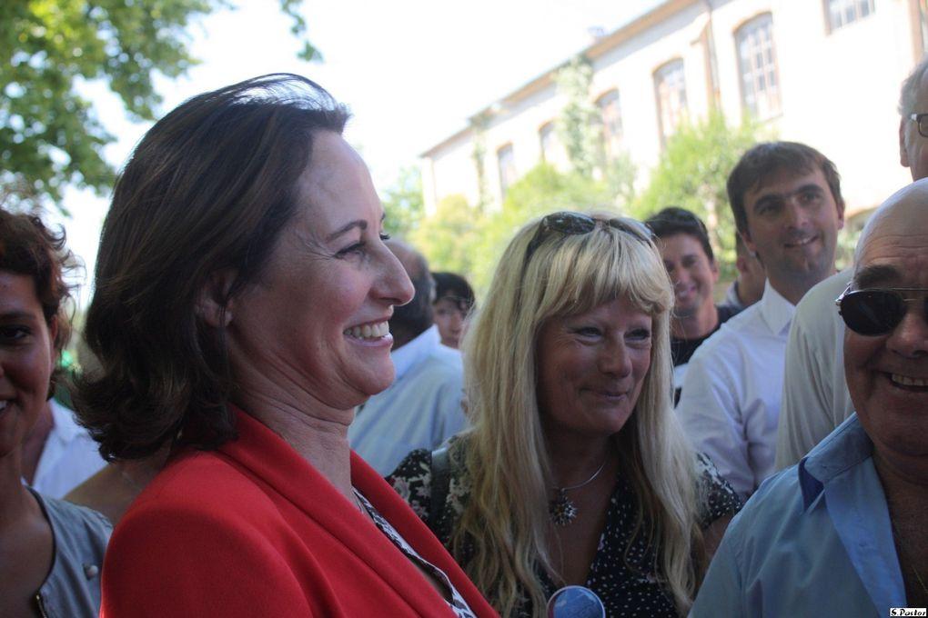 Visite de Ségolène Royal à Brignoles le 17 aout 2011