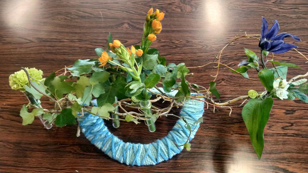 Balancelle fleurie