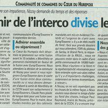 Fusion Coeur du Hurepoix / Europ'Essonne