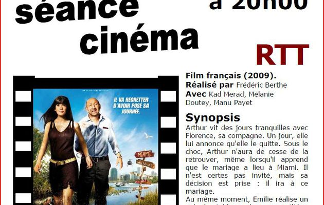 RTT - Séance cinéma - Mardi 12 janvier - 20h00 - AIGUEPERSE