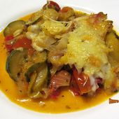 Gratin de légumes de soleil aux fromages - sucreetepices.over-blog.com