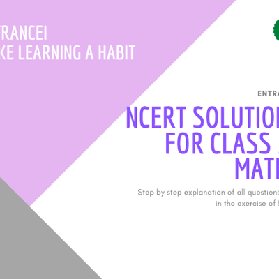 NCERT Solutions for Class 10 Maths | Entrancei