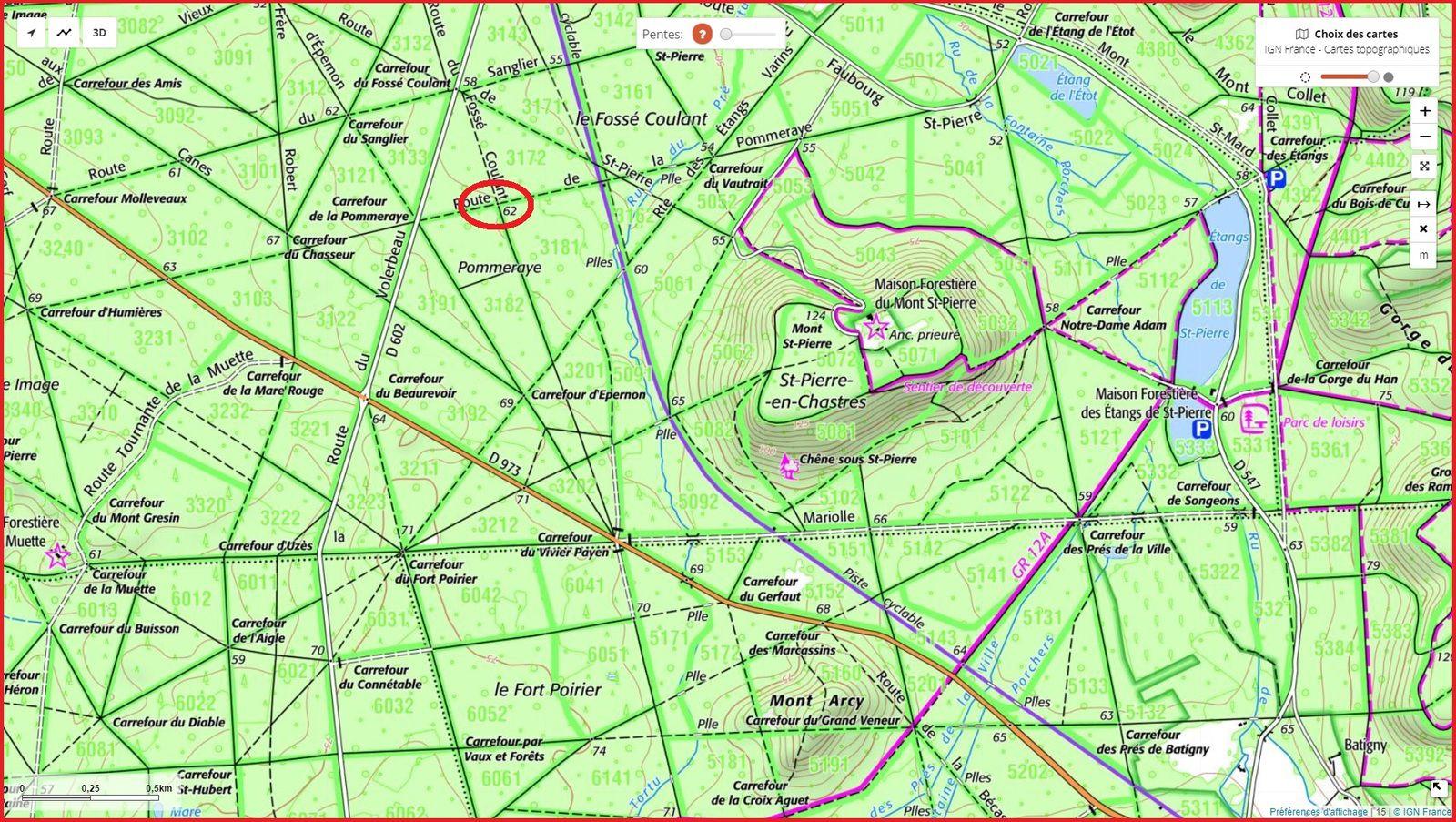 carrefour_Route de la Pommeraye_Route du Fossé Coulant
